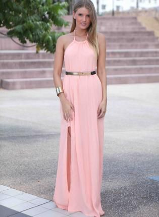Be confident to try  Pink Maxi Dress