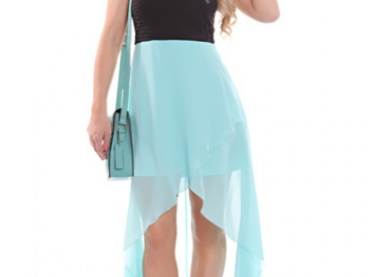 best-choice-of-wearing-teal-high-low-dress