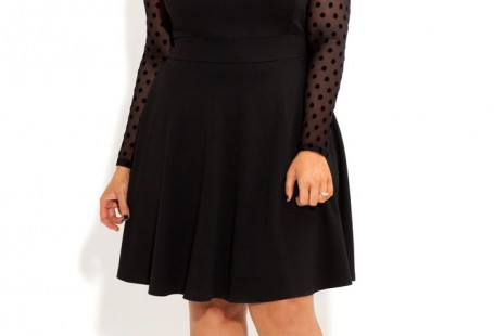 common-styles-of-plus-size-skater-dress