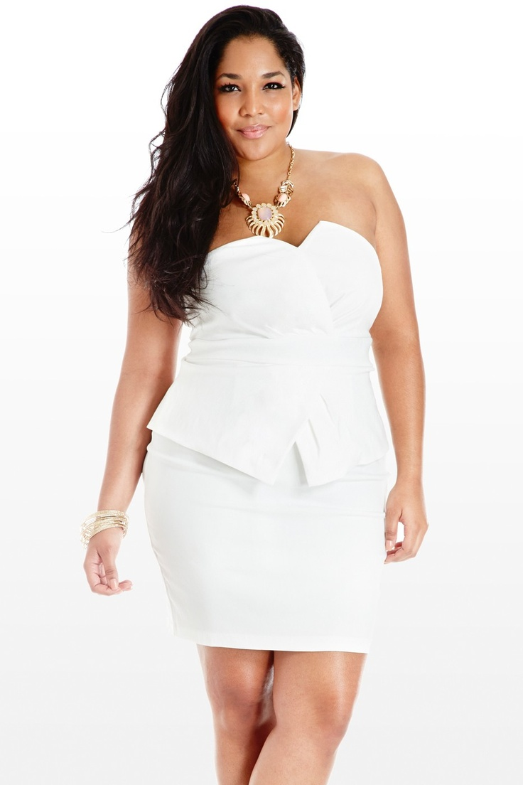 Different kinds of Plus Size White Dress - 24 Dressi