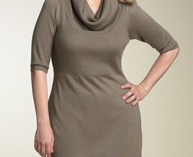 enjoy-yourself-in-cowl-neck-sweater-dress