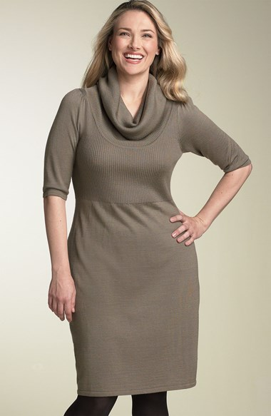 Enjoy yourself in Cowl Neck Sweater Dress - 24 Dressi
