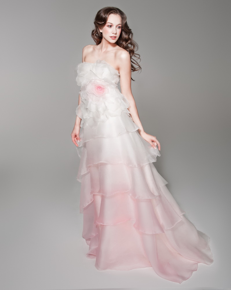 Pink And White Wedding Dresses