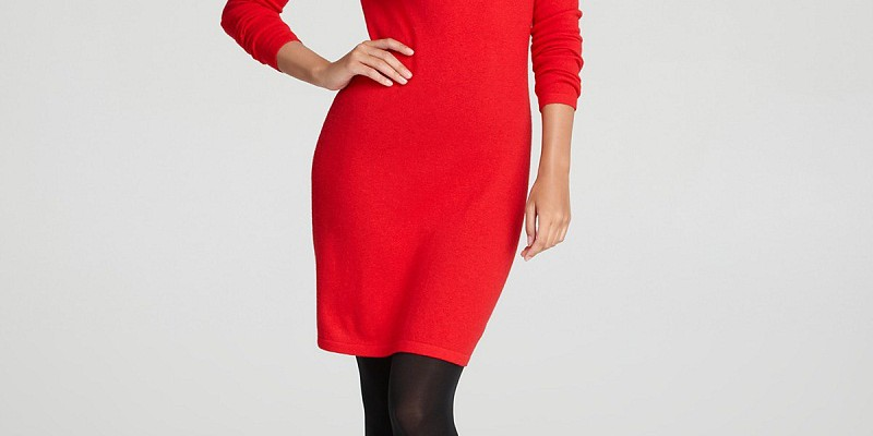 fashionable-styles-of-red-sweater-dress