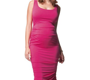 get-a-perfect-look-in-pink-maternity-dress