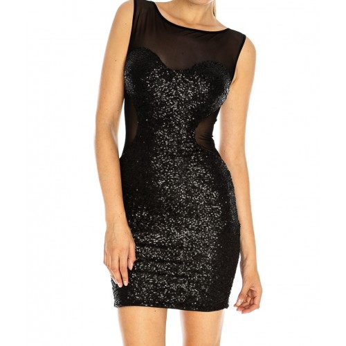 Gorgeous  Black Sequin Dress