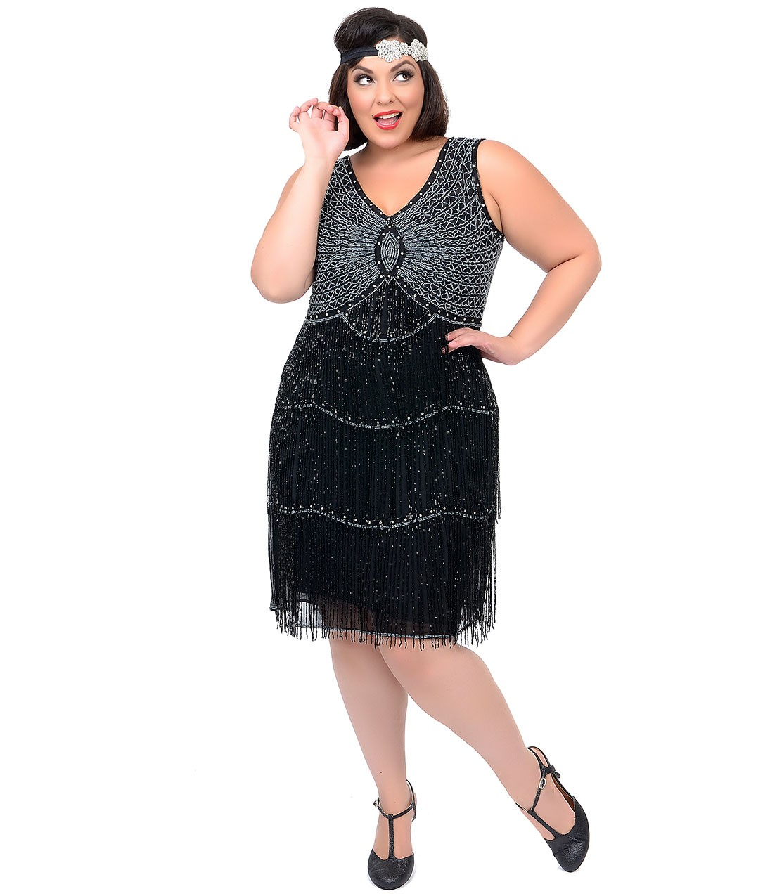 Turn your eyes to Plus Size Flapper Dress - 24 Dressi