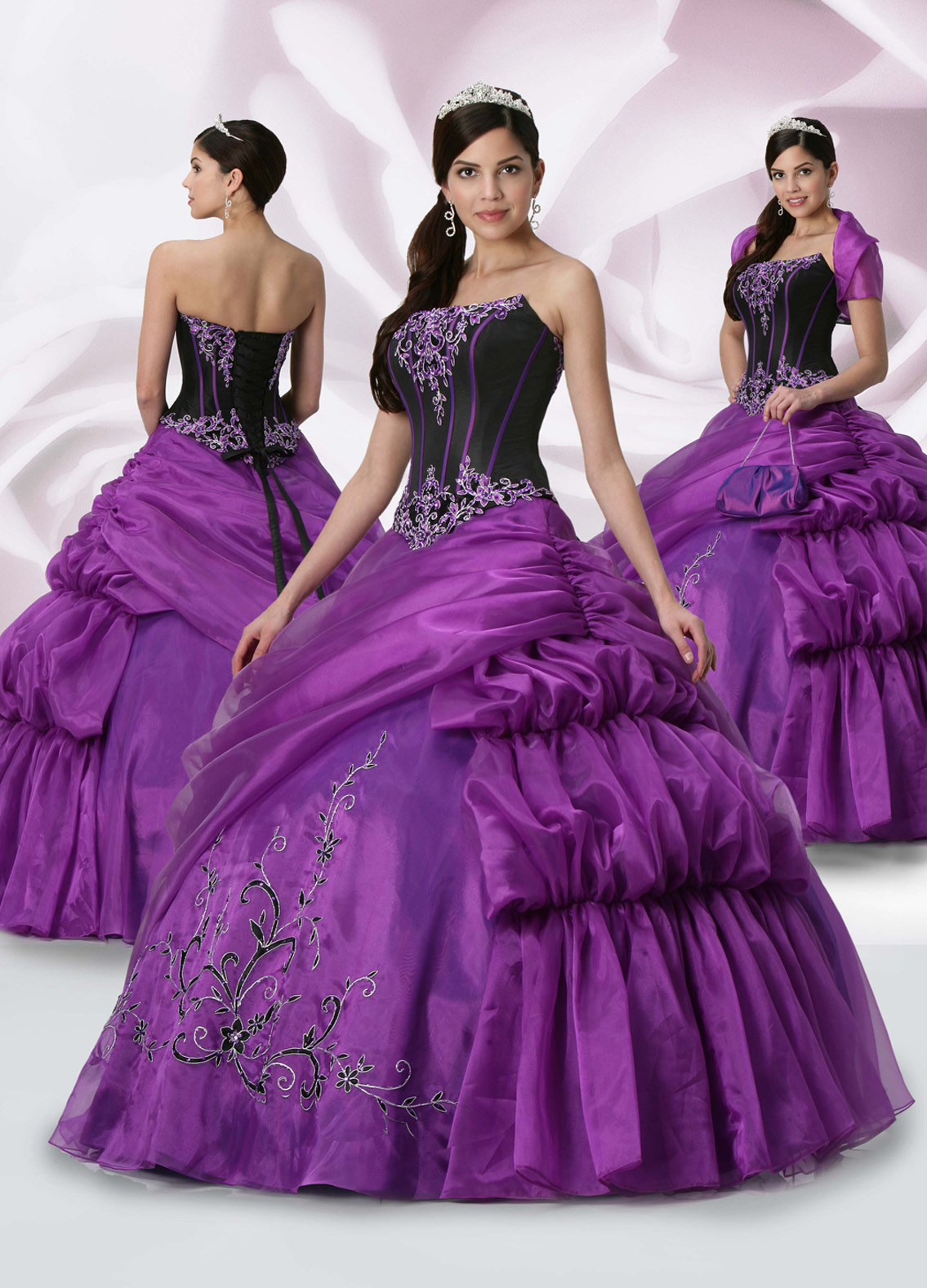 5 ways of wearing a Purple Quinceanera Dresses