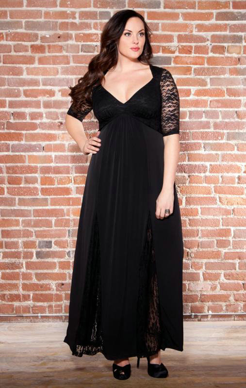 Amazing Beauty Of Plus Size Dresses With Sleeves 24 Dressi