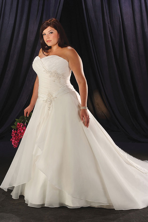 Be Beautiful And Chic In A Plus Size Wedding Dresses