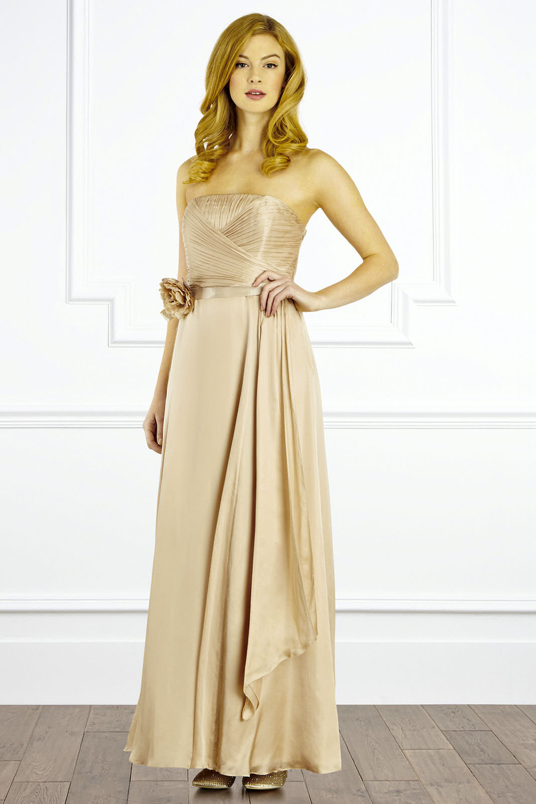 Casual styles of  Champagne Maxi Dress