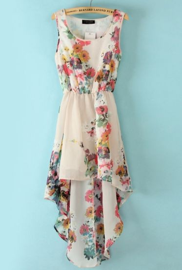 Elegant and gorgeous  Floral High Low Dress