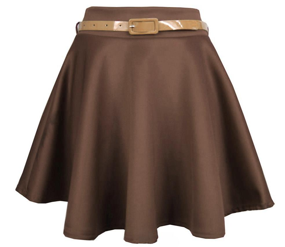 Short Brown Skirt