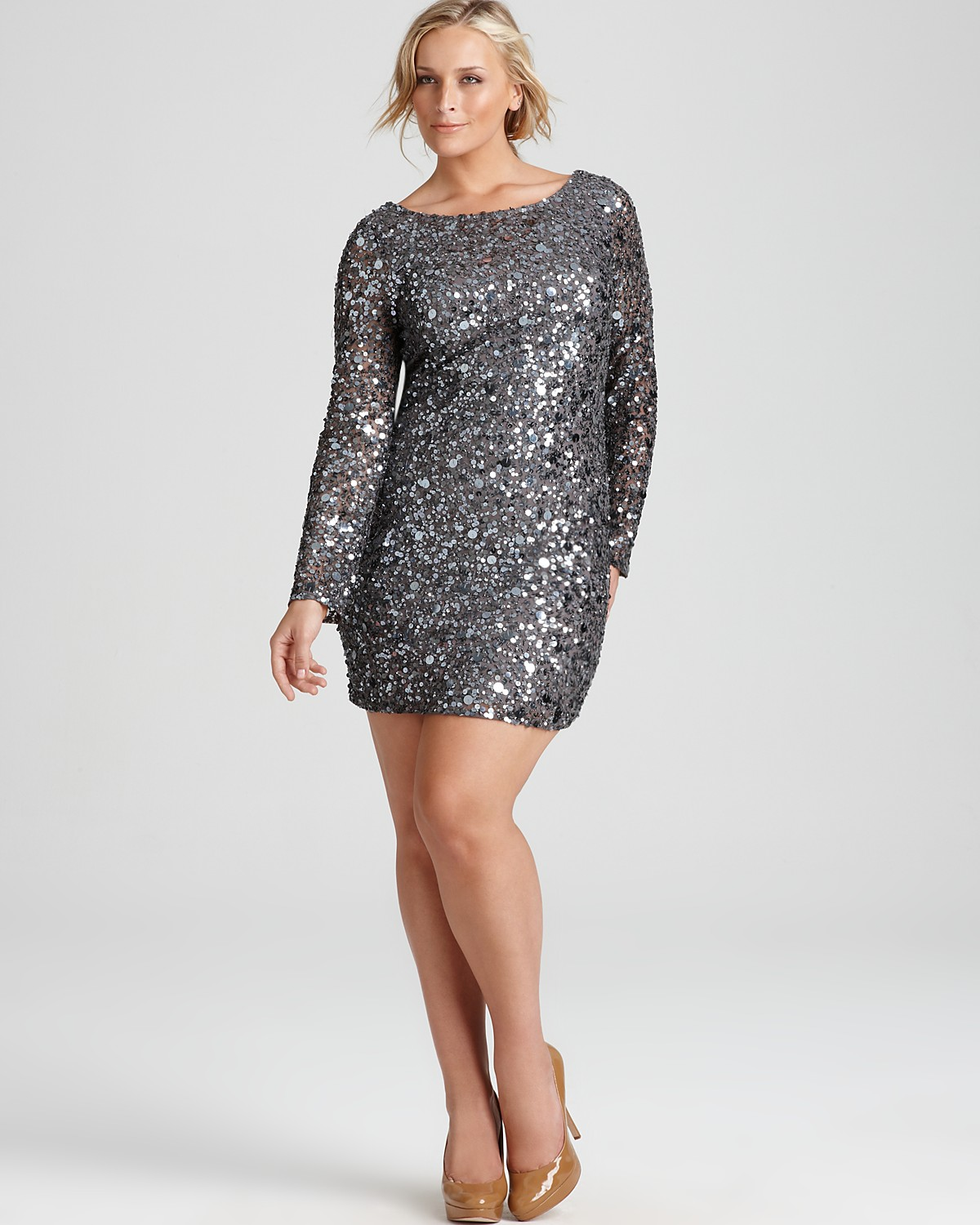 ideal choice of plus size sequin dress - 24 dressi