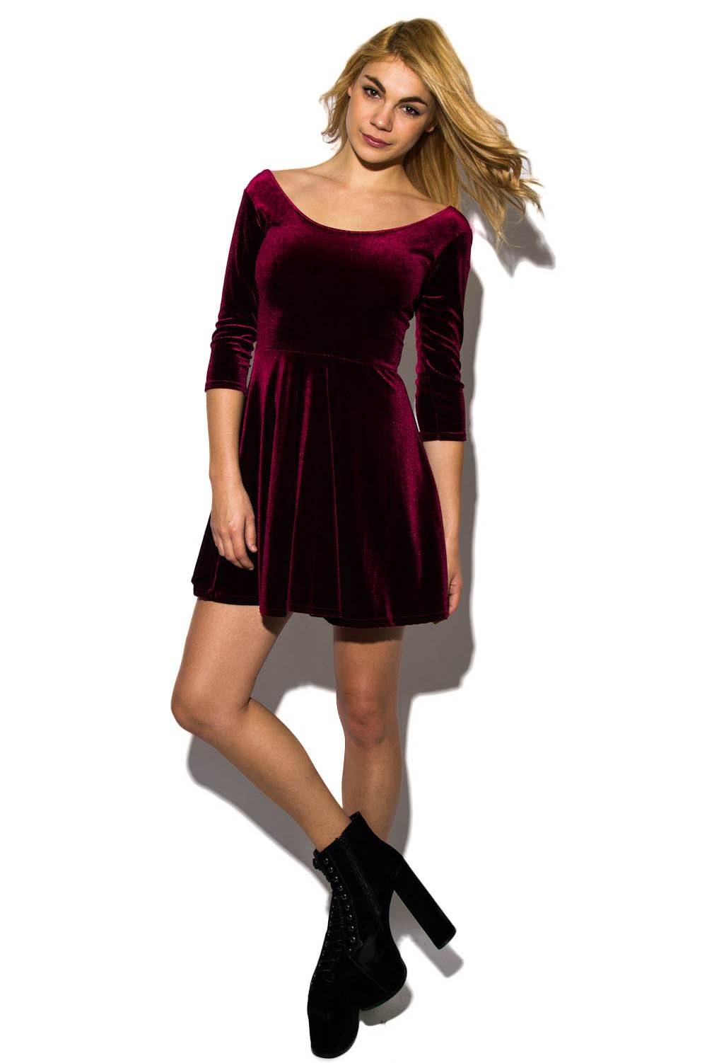 Know more about  Velvet Skater Dress