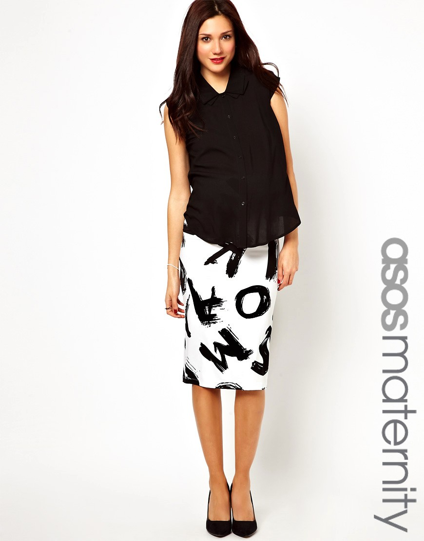 Look elegant in  Maternity Pencil Skirt