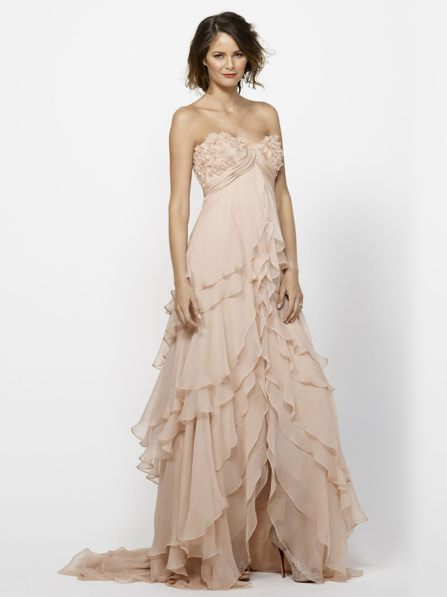Look your beauty in blush gown 24 dressi for Wedding dress made of flowers