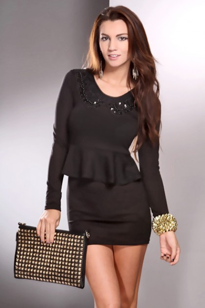 Pay more attention to  Black Peplum Dress