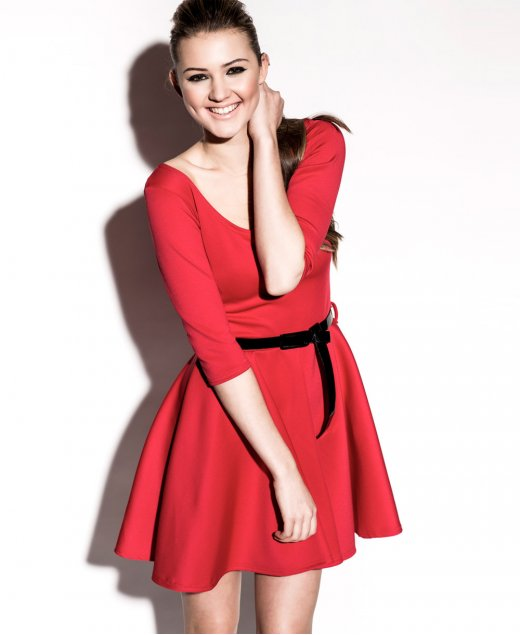 Perfect choices of  Red Skater Dress