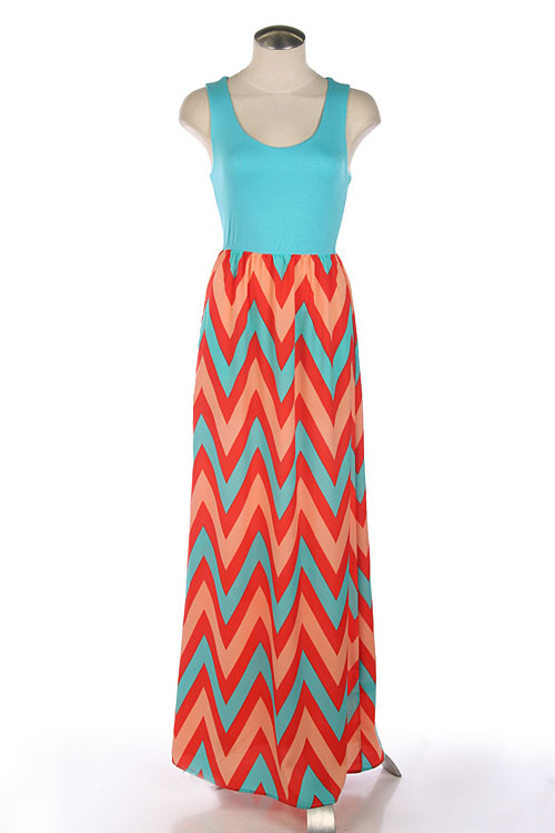 Tricks of getting yourself  Chevron Print Dress