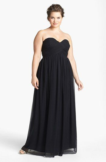 White  Plus Size Bridesmaid Dresses