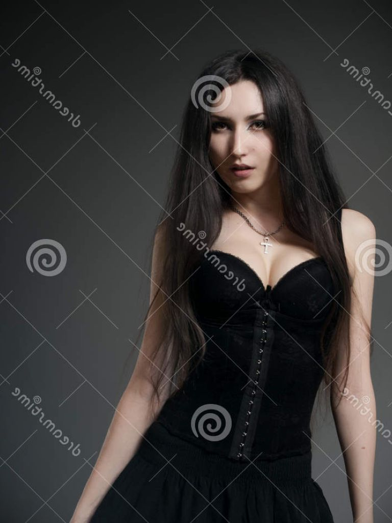Beautiful Girl In Black Dress