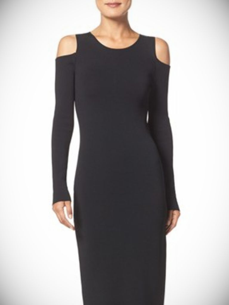 Black Knitted Dress Uk And Spring  Style