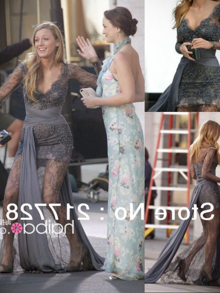 Blake Lively Gray Dress And Popular Styles 2017