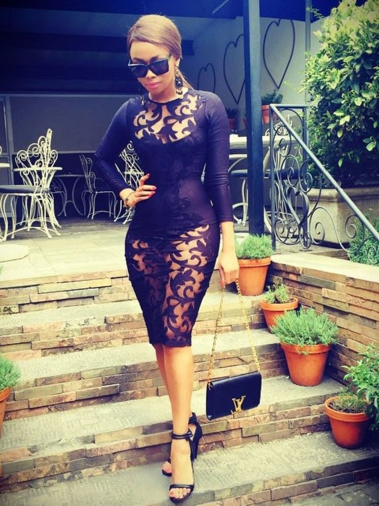 Bonang Matheba Black Dress & Make You Look Like A Princess