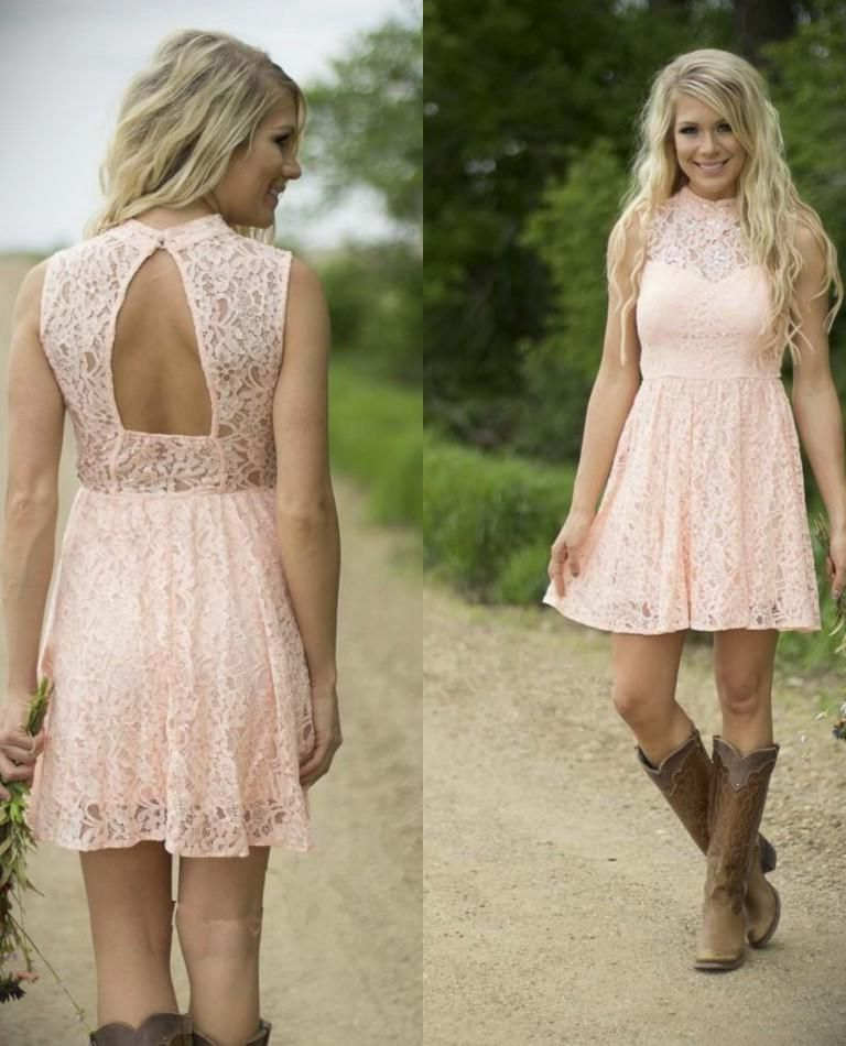 Cheap Country Style Bridesmaid Dress