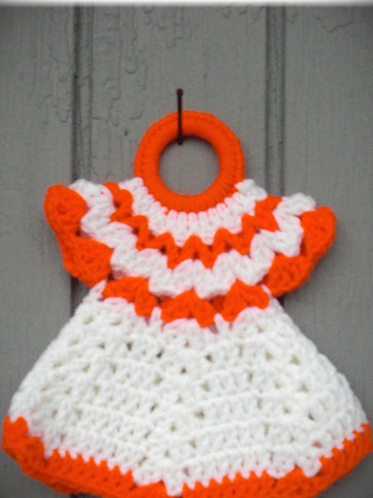 Crochet Dress Potholder Pattern Free - 24 Dressi