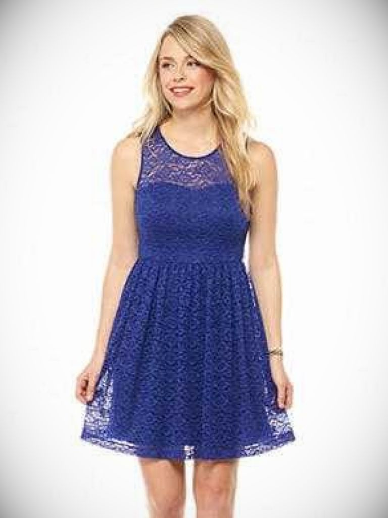 French Connection Navy Lace Dress