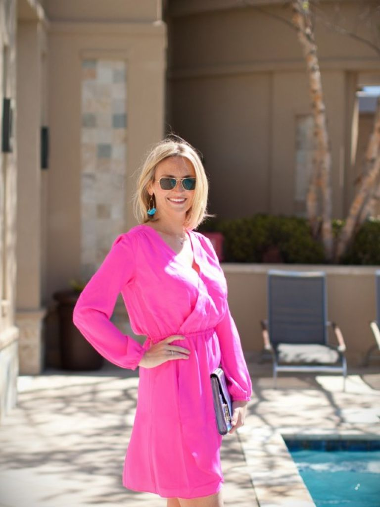 Hot Pink Dress Wedding Guest