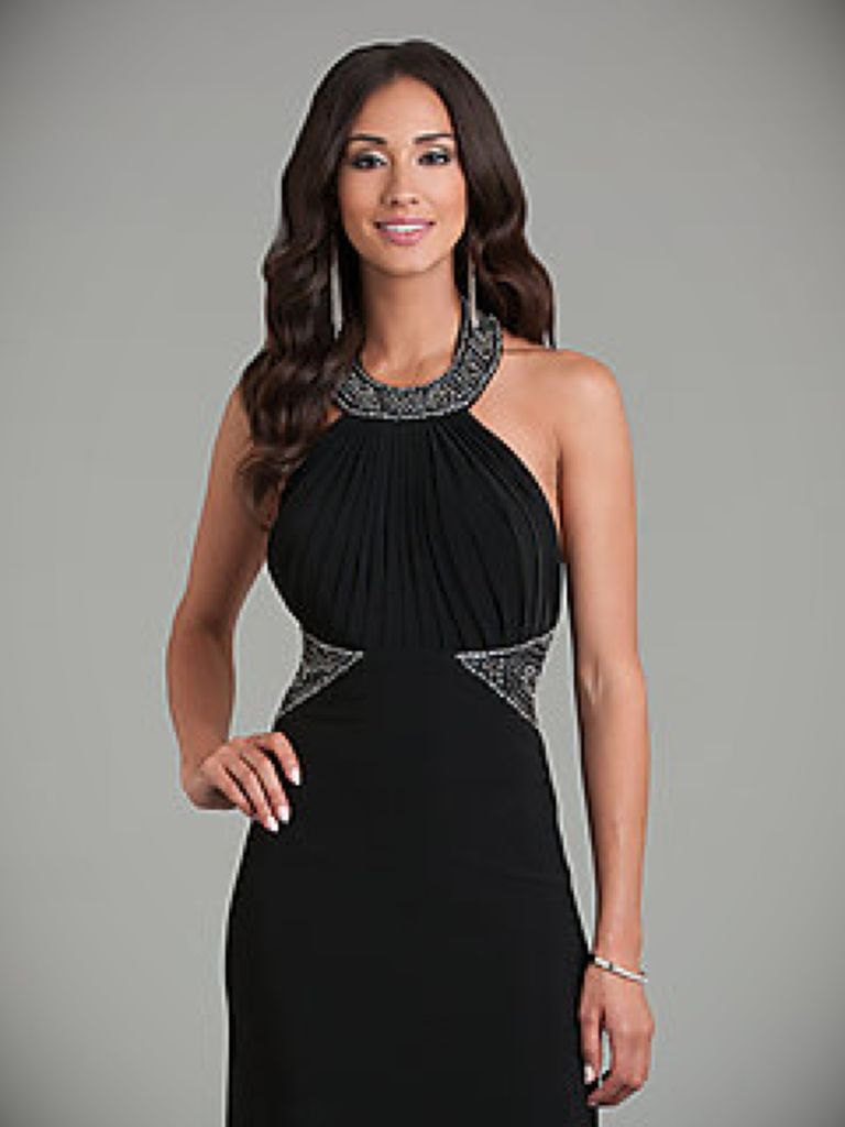 Juniors Long Black Dress And Make Your Evening Special