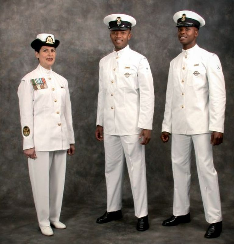 Dress white navy uniform regulations