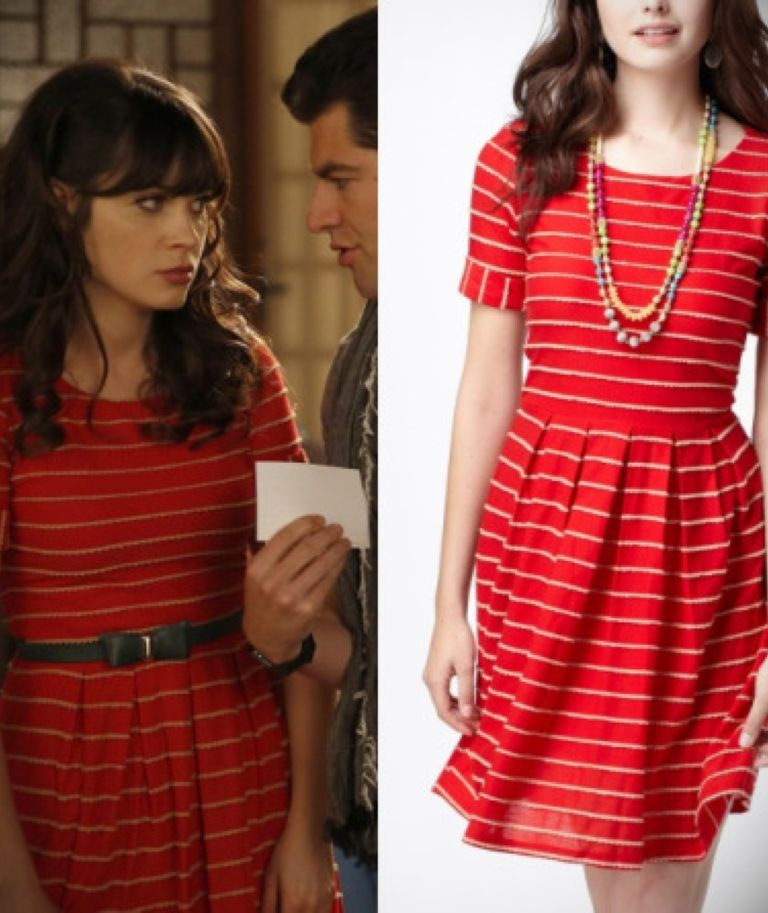New Girl Jess Red Dress & Make You Look Thinner