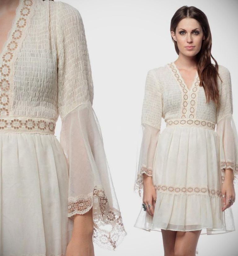 Off White Bohemian Dress & Guide Of Selecting