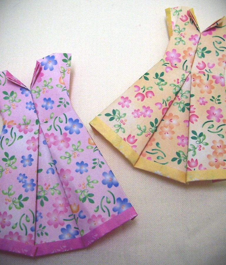 origami dress folding instructions 24 dressi