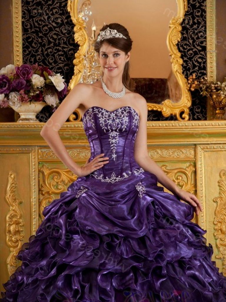 Quinceanera Dress Purple And Silver 24 Dressi