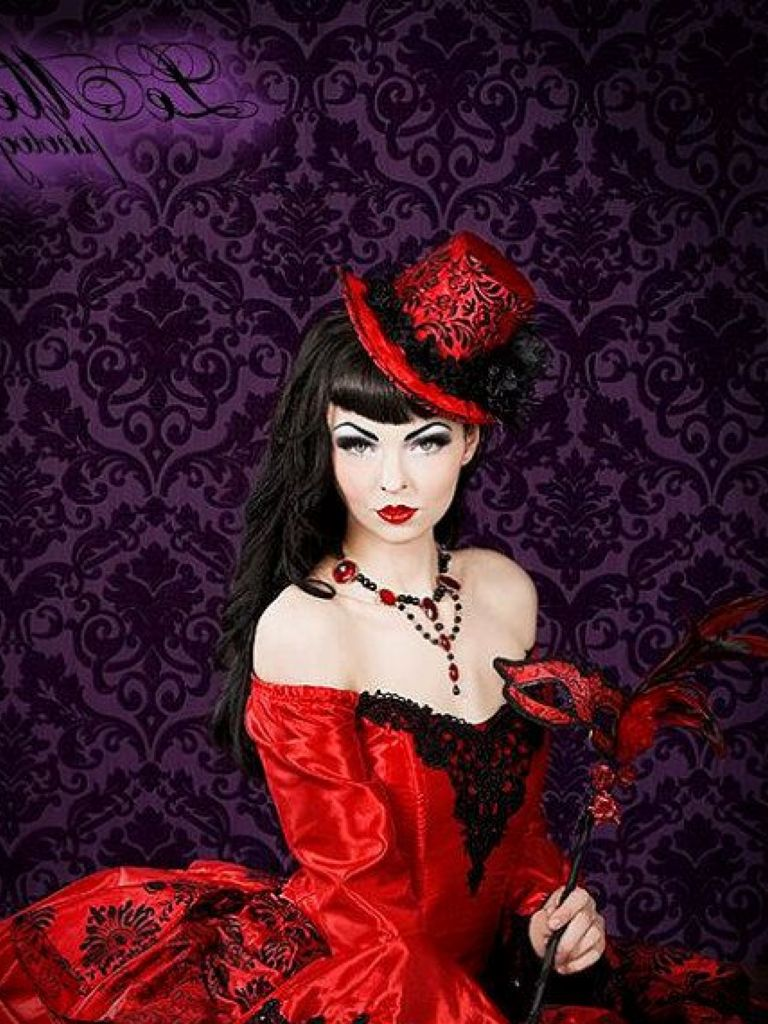 Red And Black Victorian Dress