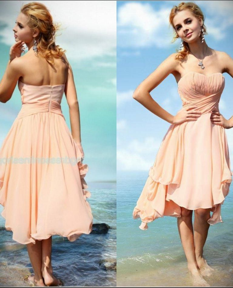 Short Chiffon Beach Wedding Dress - 24 Dressi