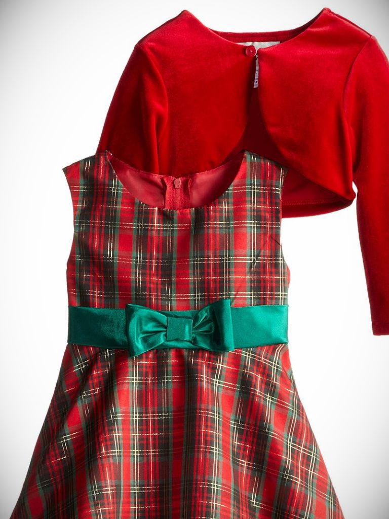 Baby Girl Plaid Christmas Dress