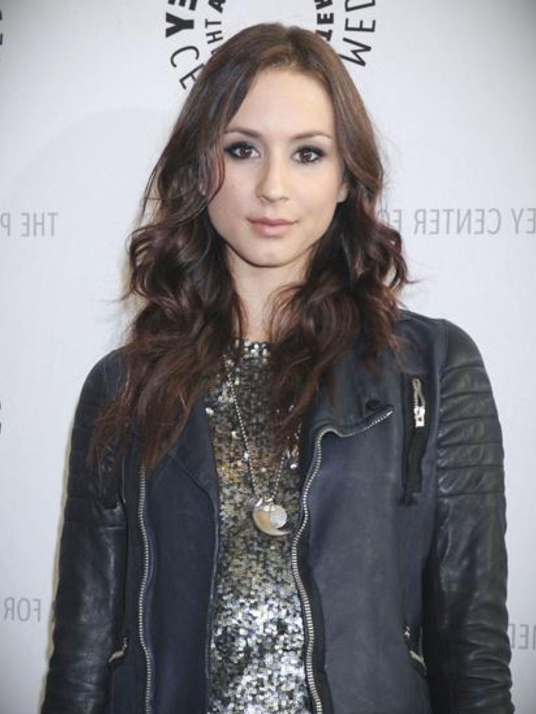 Troian Bellisario White Dress