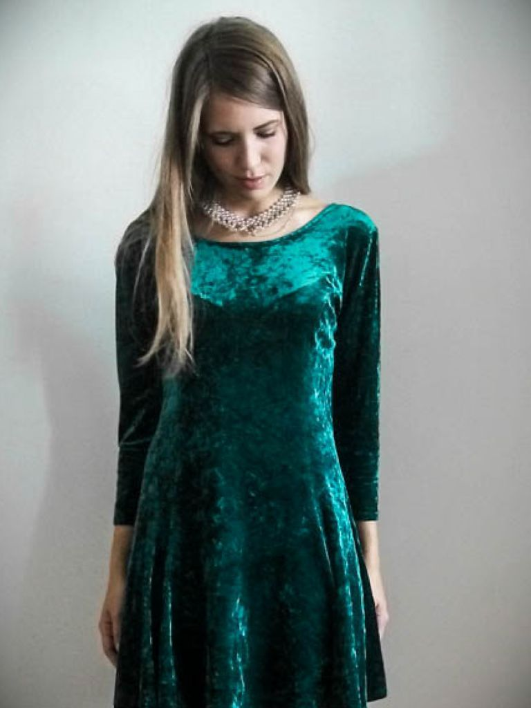 Velvet Skater Dress Uk And Trend  2017-2018