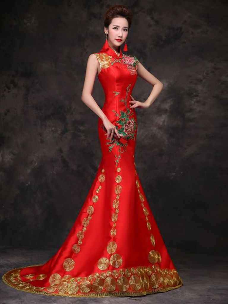 Asian-inspired Wedding Dresses with Sleeves | Dress images