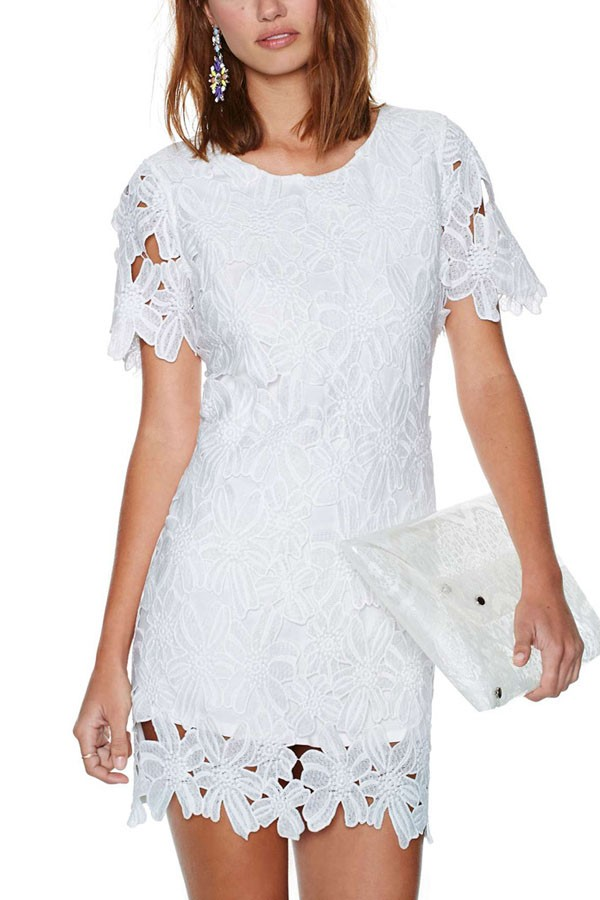 Casual Lace White Dress and 2016-2017 Fashion Trend