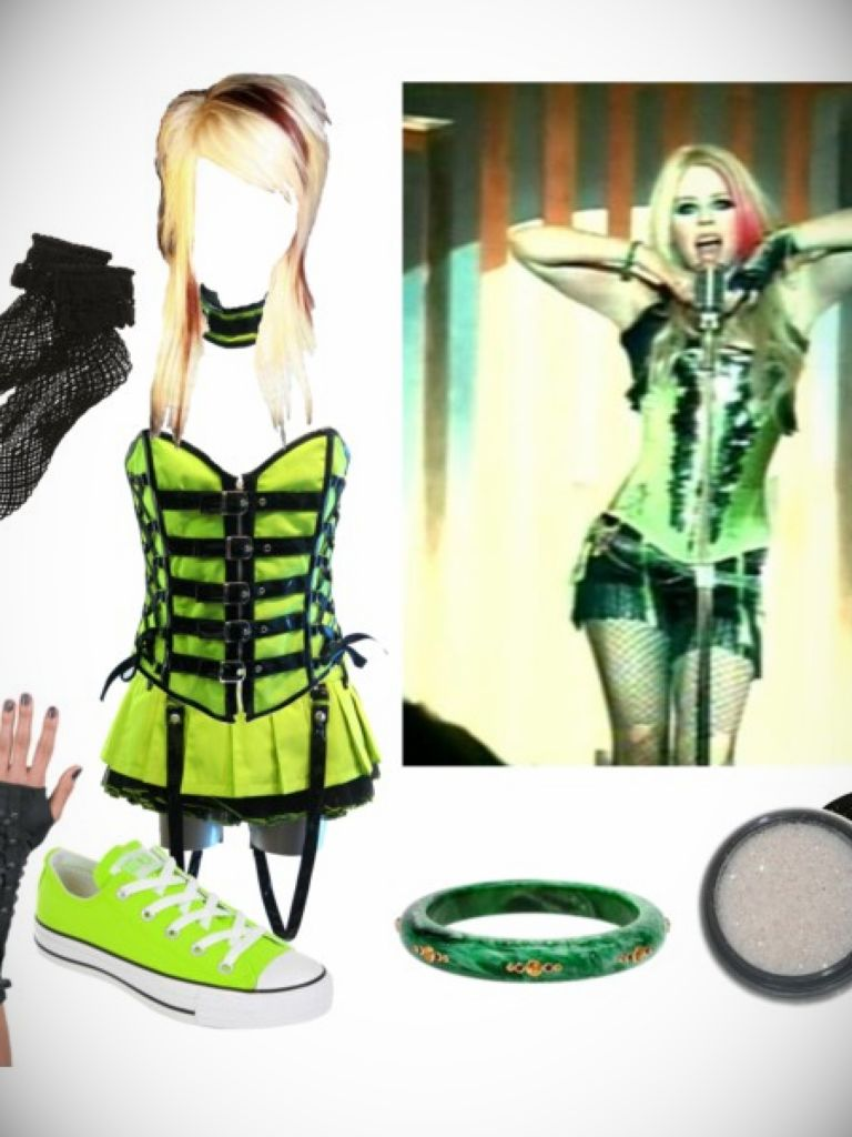 Avril Lavigne Green Dress & 2017-2018