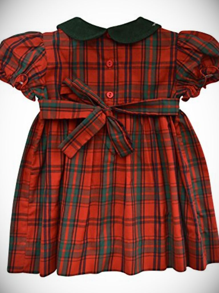 Wonderful Baby Girl Plaid Christmas Dress - 24 Dressi JP96