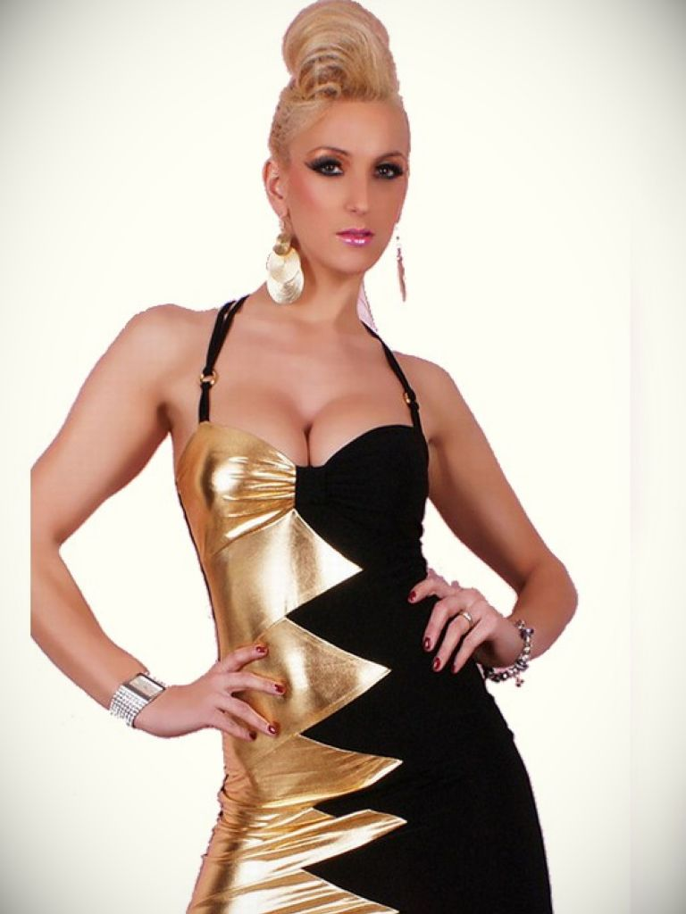 Black And Gold Club Dress & 20 Best Images