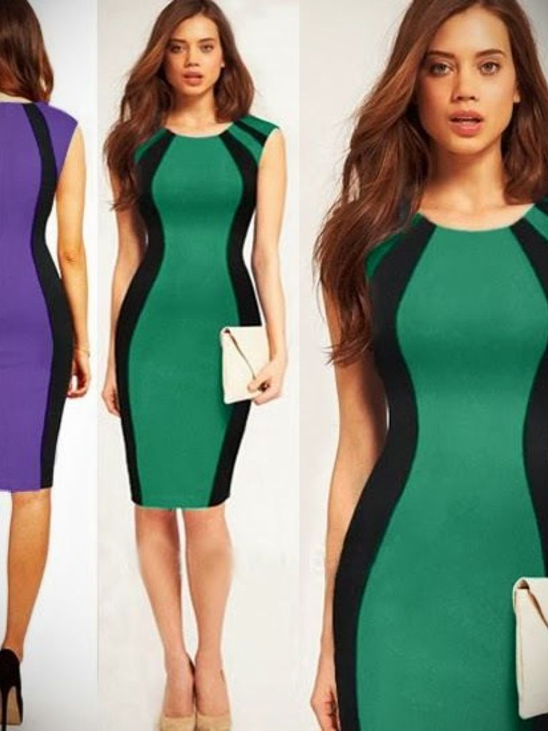 Bodycon Colour Block Dress And Style 2017-2018